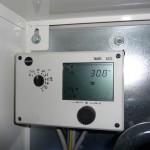 Blick auf die Temperatur laut Steuerung am Tag 2 (23.10.2012)