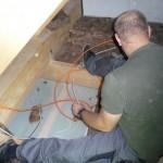 Kabel durchführen und wieder gut verkleben