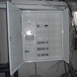 Unser Stromkasten mit Zähler, ersten Automaten und den FIs