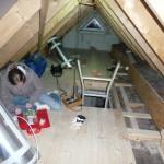 Kurze Futter-Pause beim Dachboden finalisieren