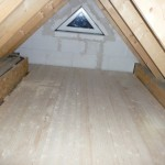 Der fertige Dachboden