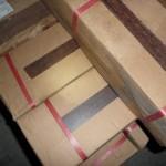 Die ersten Fliesen wurden geliefert - Badezimmerfliesen im Holzlook
