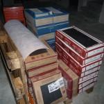Die ersten Fliesen wurden geliefert - Anthrazite Fliesen fürs EG und für die Treppe