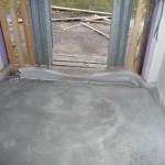 Estich im Eingangsbereich - das letzte Stück wird gefüllt, wenn die Tür da ist
