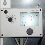 Temperatur laut Steuerung am 26.10.2012