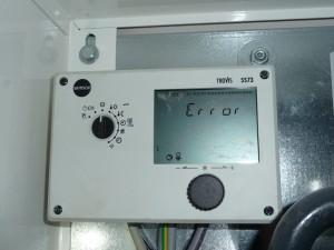 Temperatur laut Steuerung am 29.10.2012