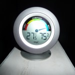 Temperatur und Feuchtigkeit am Abend nach einem Tag Stauheizen kurz vor dem Lüften