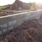 Fertig gemauerte Mauer