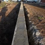 Gut bewehrt und komplett mit Beton aufgefüllt und vergossen