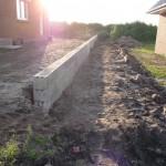 Dier Mauer von der Straßenseite