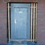 Die gedämmte Tür von außen