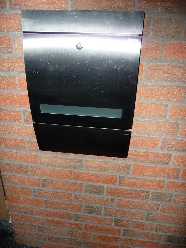 Unser Briefkasten mit Zeitungsfach