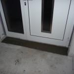 Der Estrich wurde am Dienstag an der Tür gelegt