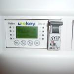 Die fertige eKey-Steuerung im Kasten in Betrieb