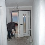 Die Tür wird verbaut
