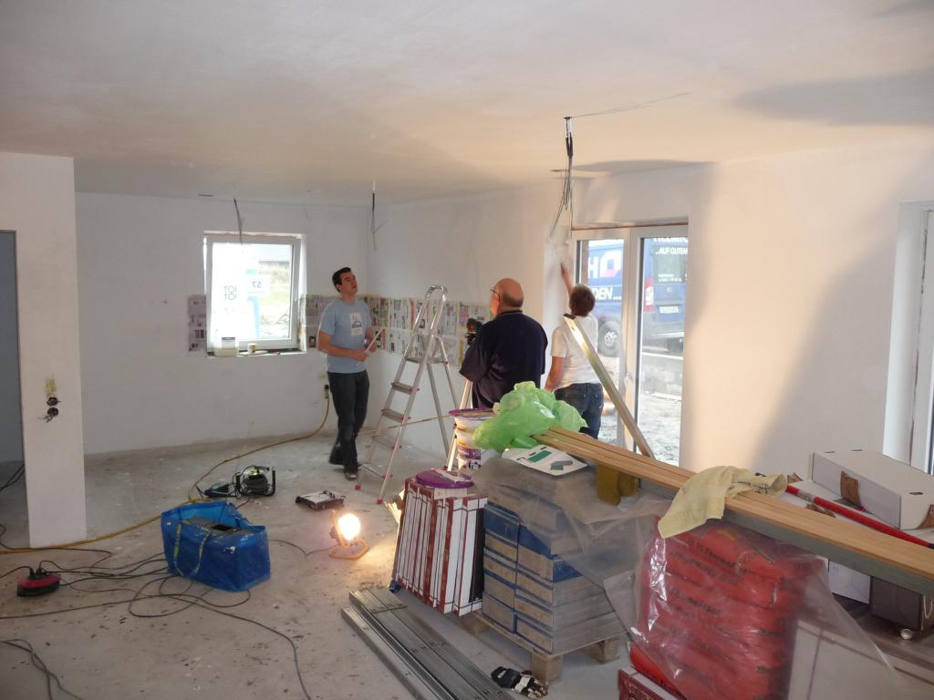 Trockenbauplanung für Deckenbeleuchtung