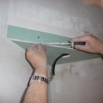 Trockenbaukonstruktion für Spot über dem Treppenpodest