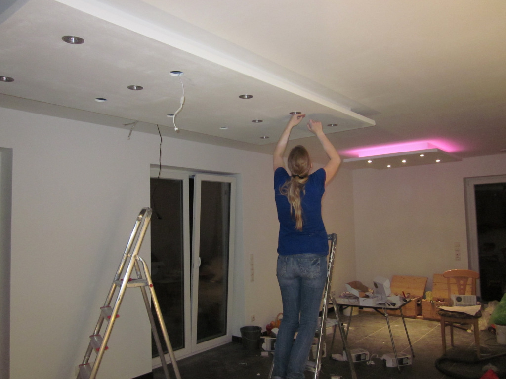Lampen Montieren Jetzt Wird Gebaut Bautagebuch