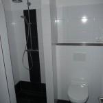 Gäste-WC mit Klo und Dusche
