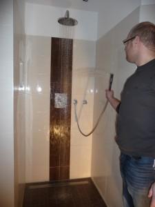 Die Dusche geht, aber leider noch mit Mischerdefekt