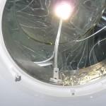 Ordentlich reparierter und abgedichteter Tageslichtspot