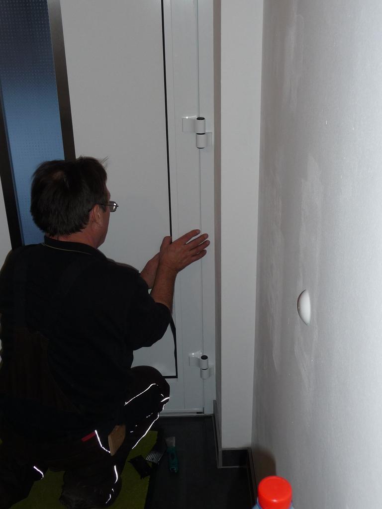 Das Tür-Inlay wird komplett mit der Scheibe getauscht