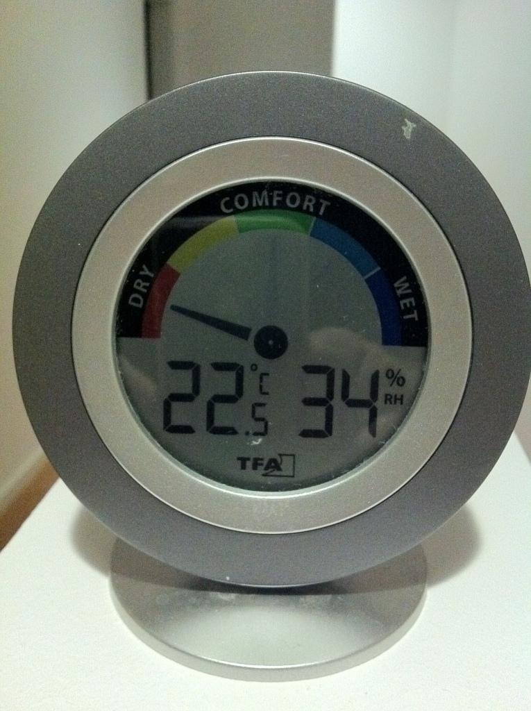 38% Luftfeuchtigkeit entsprechen eher Trockenheit