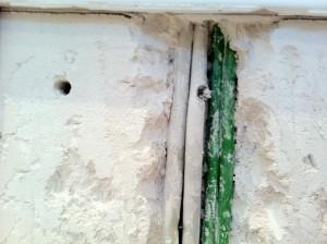 Volltreffer - Kabel im Gäste-WC angebohrt