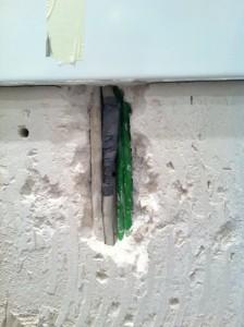 Angebohrtes Kabel ist wieder repariert